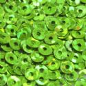 Sequins, green, Diameter 3mm, 3350 pieces, 10g, Disc shape, Sequins are shiny, [CZP269]